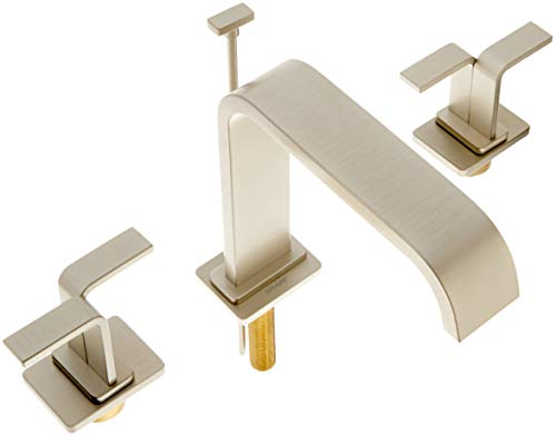 Graff G-2310-C9-SN Immersion Collection Widespread Lavatory Faucet with Wing Handles, Steelnox