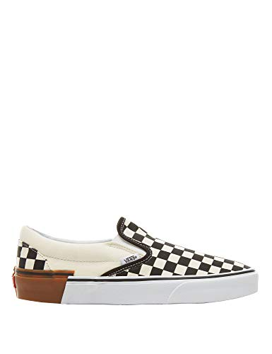 Vans Classic Slip-On Gum Block Sneakers (Gum Block) Checkerboard