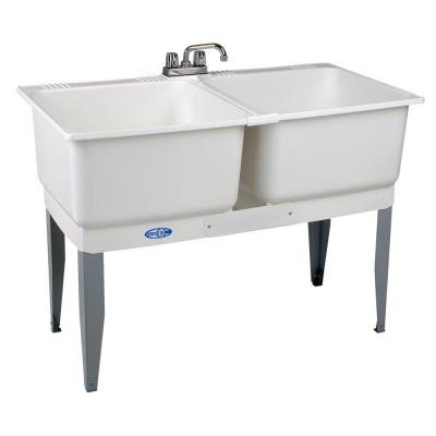 46 in. x 34 in. Utility Plastic Laundry Tub by Mustee