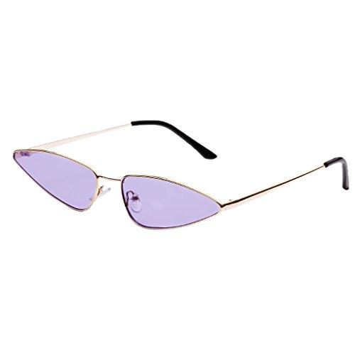 de Mujer para Regalo de Sol Hombre Homyl Gato Lente Protección gris de Ojos Vintaje negro marco Unisex Gafa UV400 Pesca Púrpura Conducción con v7nPvqFWX