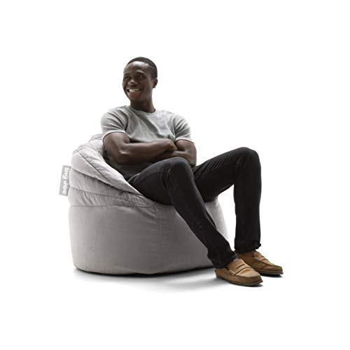 Big Joe 0680563 Stack Chair, Stone Plush Bean Bag,