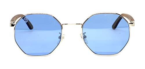 Óculos De Sol De Madeira E Metal Opal Blue, MafiawooD
