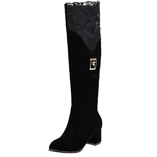 AIYOUMEI Women's Classic Boot Black Q0U8fc1l2