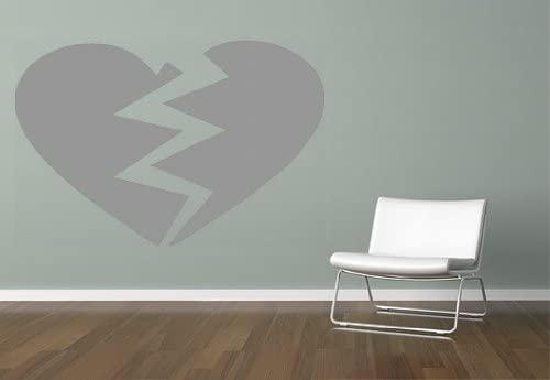 Pared Adhesivo - Color Corazón roto, gris medio, ca. 56,96 x 37 ...