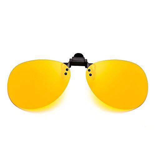 a5e414a30e Outlet Retro Clip en Sin Marco Aviador Gafas de Sol Polarizadas Lentes de  Flip up Anteojos