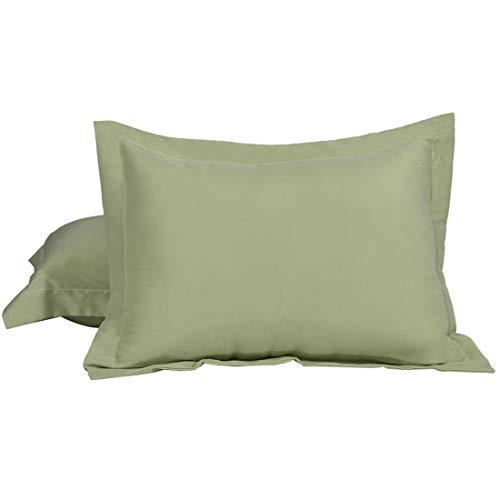 uxcell 100% Brushed Microfiber King Pillow Shams Set of 2, Wrinkle, Fade, Stain Resistant, Envelope Closure, Sage Green Soft Pillowcases