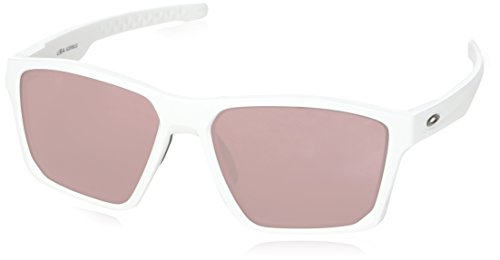 Oakley Men's Targetline Non-Polarized Iridium Square Sunglasses, Polished White, 58.0 mm
