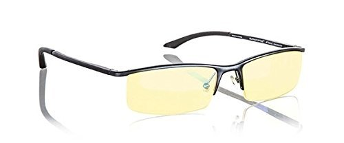 Frame Finish Onyx (Gunnar Optiks Emissary Computer glasses - block blue light, Anti-glare, minimize digital eye strain - Prevent headaches, reduce eye fatigue and sleep better)