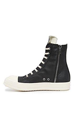 Rick Owens DRKSHDW Men's Rubber Cotton Cap Toe Sneakers, Black/Milk, 41 EU (8.5 D(M) US Men) by Rick Owens DRKSHDW (Image #2)