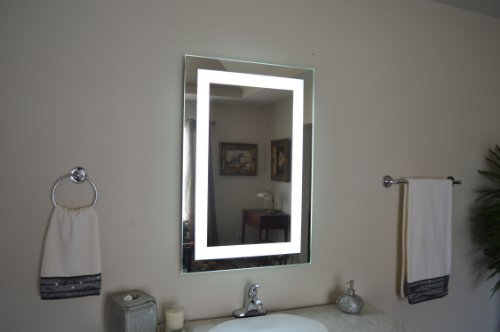Wall Mounted Lighted Vanity Mirror LED MAM82836 Commercial Grade 28'' wide x 36'' tall by Mirrors and Marble