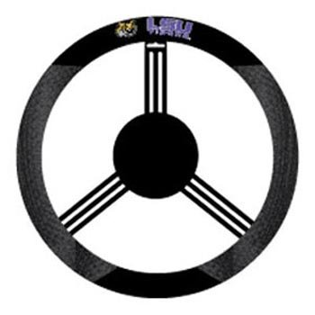 NCAA Louisiana State Fightin Tigers Polysuede Steering Wheel Cover