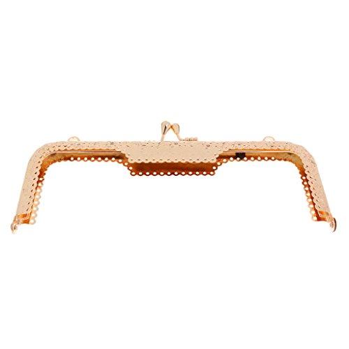 MagiDeal Vintage DIY Schliesse Kuss-Verschluss Rahmen Taschenbügel für Damen Handtasche Geldbörse Brieftasche - Gold Gold zJuwH8