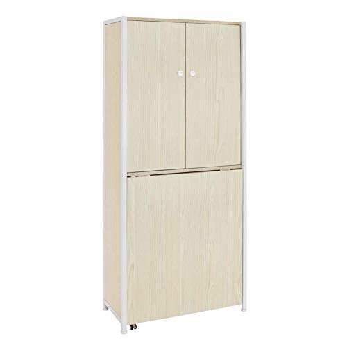 Offex Sew Ready Craft White Birch Armoire