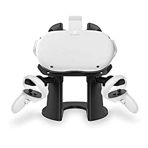 Best Epic Trends 31pRbsFIPEL._SS300_ AMVR VR Stand,Headset Display Holder and Controller Mount Station for Oculus Quest, Quest 2, Rift or Rift S Headset and…
