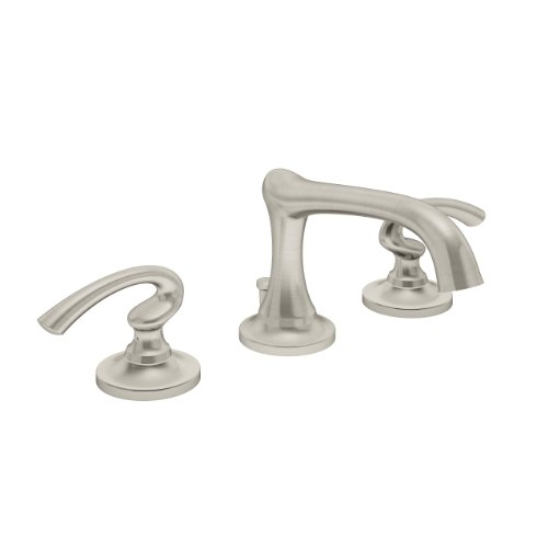 Symmons Ballina Two-Handle 8 - 16 Inch Widespread Bathroom Faucet with Pop-Up Drain & Lift Rod, Satin Nickel (SLW-5212-STN)