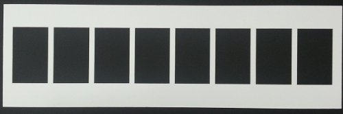 White 8 Opening Picture Mat for 8 4x6 Pictures or Letter Art, This Is for the Mat Only
