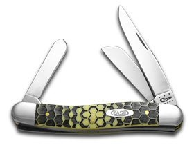 CASE XX Honeycomb Etch Gelb Delrin Medium Stockman 1 1000 Stainless Pocket Knife B076279WWJ     | Preisreduktion