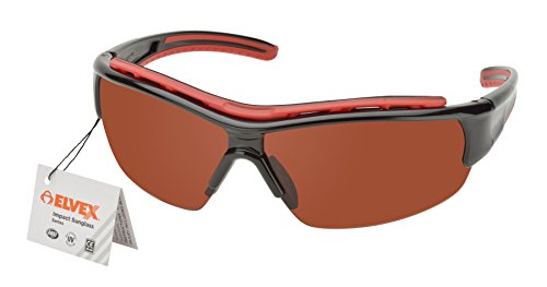 Elvex RSG301 Impact Safety Eyewear Series, Black Frame/Blue Blocker - Blocker Blue Lens