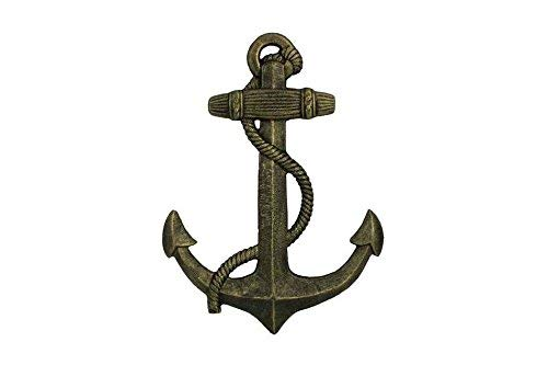 Handcrafted Model Ships K-0137-gold Antique Gold Cast Iron Anchor - 17 in.