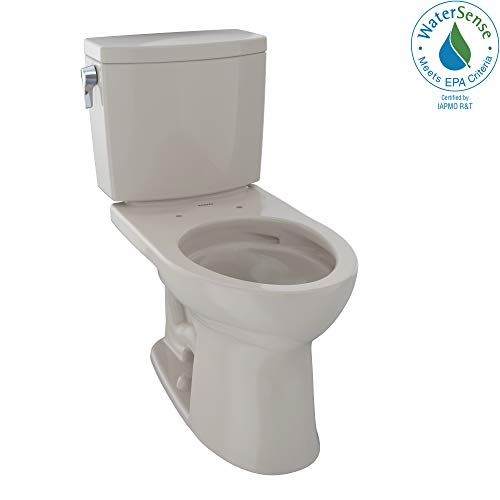 - TOTO CST454CUFG#03 Drake II 1G Two-Piece Elongated 1.0 GPF Universal Height Toilet with CEFIONTECT, Bone