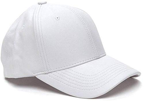 5b3cfc0031d Image Unavailable. Image not available for. Colour  Babji with Stylish  Leather Baseball Cap White