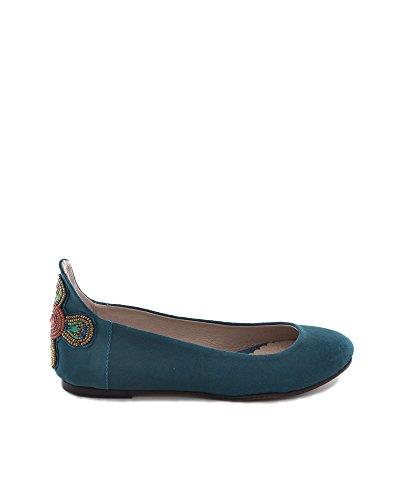 De Azul Bailarinas Mujer Pepe Ante Jeans Para EFqqvw