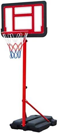 モバイルバスケットボールスタンド、屋外の子供のバスケットボールボード、屋内室内調節可能なバスケットボールスタンド、取り外し可能なバスケットボールのスポーツ用品、安定した基盤 (Color : Red, Size : 1.05m-1.65m)