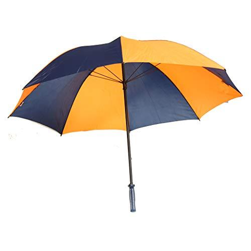 Aqua Sheen 62'' Fiberglass Deluxe Golf Umbrella - Navy/Orange by Aqua Sheen