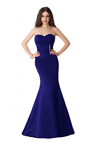 Sunvary corte esbelto de sirena satén Pageant Celebrity vestidos largo vestidos del baile azul real