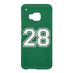 Loud Universe HTC One M9 Number 28 Print 3D Wrap Around Case - Green/White