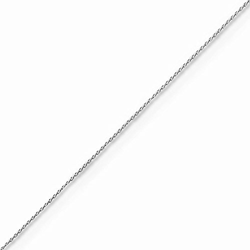 14k Gold Diamond-cut Wheat Chain Necklace with Spring Ring (0.5mm) - White-Gold, 18 in (Gold Wheat Ring)