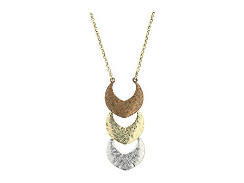 Lucky Brand Tri Tone Pendant Necklace, 29