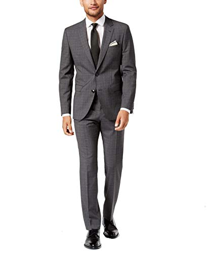 (Hugo. Boss. Charcoal Gray Mens Size 40 Two Button Wool Suit)