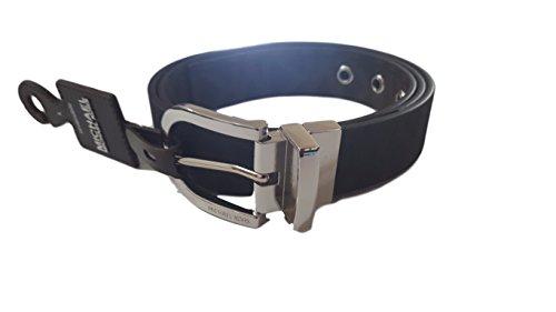 (Michael Kors Womens Twist Reversible Belt Silver Faux Leather (Small))