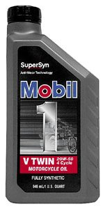 Mobil 1 96936 20W-50 V-Twin Synthetic Motocycle Motor Oil Qu