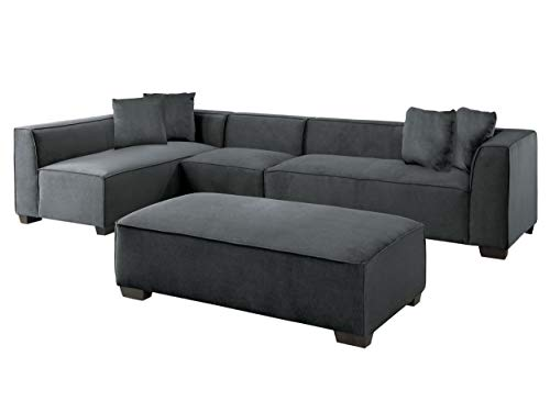 Amazon.com: Marks 4PC Sectional Armless Chair, 2 2-Seater ...