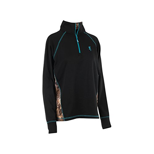 Browning Women's Dahlia Quarter Zip Pullover - Large - Black for sale