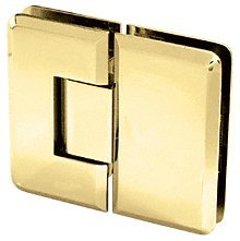 C.R. LAURENCE C0L180BR CRL Polished Brass Cologne 180 Series 180 Glass-to-Glass Hinge