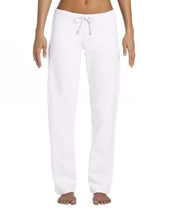Bella + Canvas Womens Fleece Straight Leg Sweatpant (7017)- White,Medium