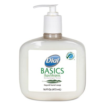 Dial Professional 06044 Basics Liquid Hand Soap Rosemary & Mint 16oz Pump -