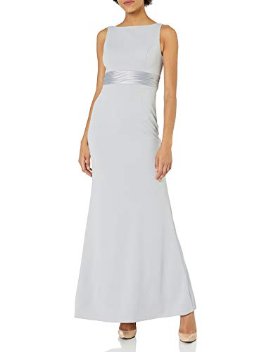 Adrianna Papell Women's Knit Crepe Dress, Bridal Silver, 16 from Adrianna Papell