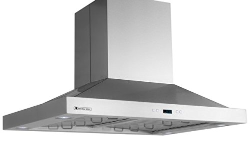XtremeAir PX05-I42 900 CFM LED lights, Both Side accessible Control, Baffle Filters with Grease Drain Tunnel, 1.0mm Non-Magnetic Stainless Steel Seamless Body, Island Mount Range Hood, 42'' by XtremeAIR (Image #4)