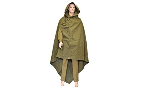 Coat Tent (Made in USSR Original Soviet Russian Army WWII Type Soldier Field Canvas cloak tent Raincoat Poncho by Sovietic Army)
