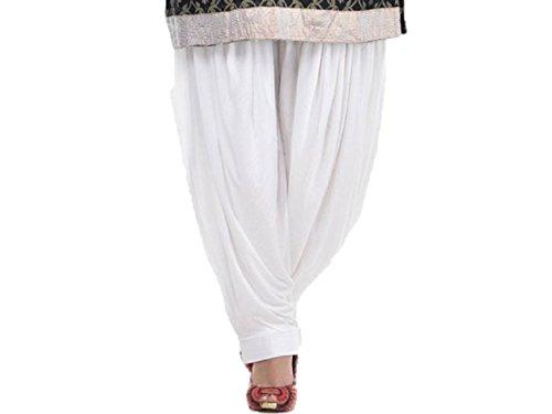 Reliable Patiala Salwar, Harem Pants, Yoga Pilates Pants 100% Cotton Free Style (White)