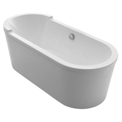 Whitehaus whvt180bath oval freestanding acrylic soaking for Best soaker tub for the money