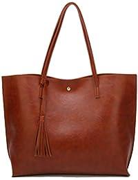 Women's Soft Leather Tote Shoulder Bag from Dreubea, Big...