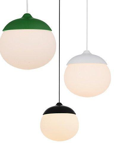 Mini Acorn Pendant Lamp 1 Light Mordern Simplicity Black White Gray Brown Green Finish Carbon Steel & Glass Droplight