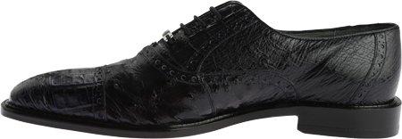 Belvedere Onesto II Genuine Ostrich and Crocodile Oxford Shoe Navy kGxim