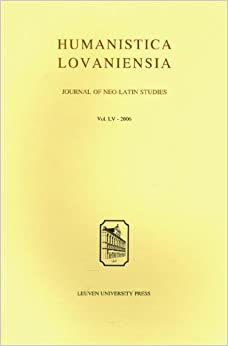 Book Humanistica Lovaniensia: Journal of Neo-Latin Studies