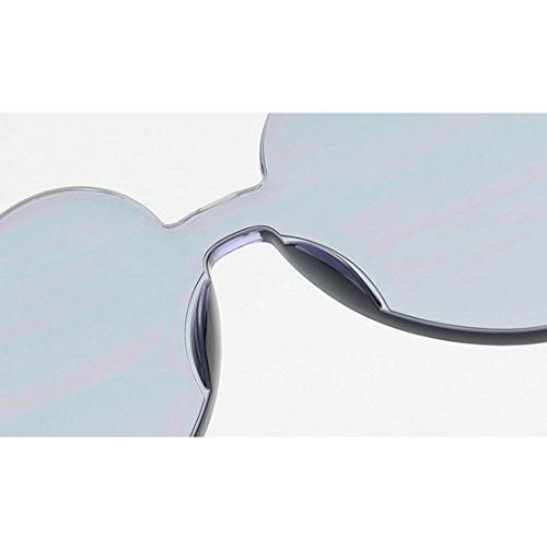 Europa PC De UV400 De Las Pieza Una De La De Forma Corazón De QQBL Visible Blue Green Personalidad De Corazón En Unidos De Y Gafas Melocotón Perspectiva Estados Sol Damas 99 YBEXw